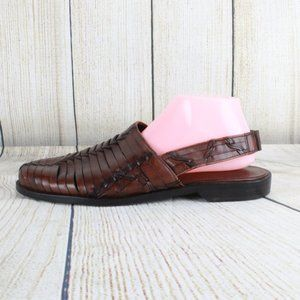 Cole Haan Woven Leather Sandals Slingback Shoes